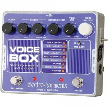 Voice Box Vocoder & Harmony Effects Pedal