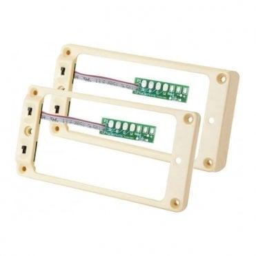 Triple Shot Switching Mounting Ring Set (TS-2s) Les Paul Set Cream