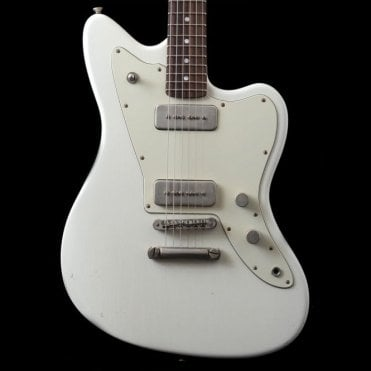 JM6 Standard P90 Electric Guitar, Olympic White