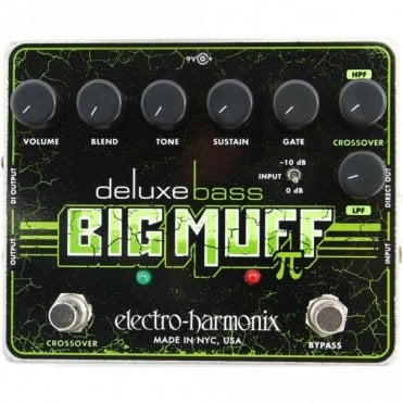 Deluxe Bass Big Muff Pi Distortion/Sustainer Effects Pedal
