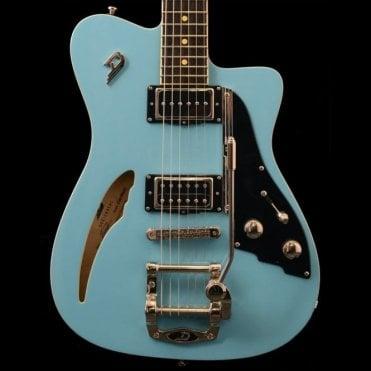 Caribou Semi-Hollow Electric Guitar, Narvik Blue