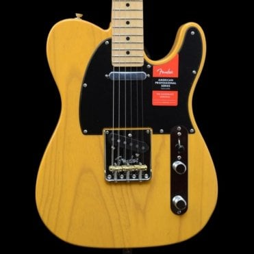 American Professional Telecaster Electric Guitar, Butterscotch Blonde