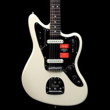 American Professional Jaguar Electric Guitar, Olympic White