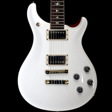 McCarty 594 Wood Library Electric Guitar, Jet White w/ Natural Back #235308