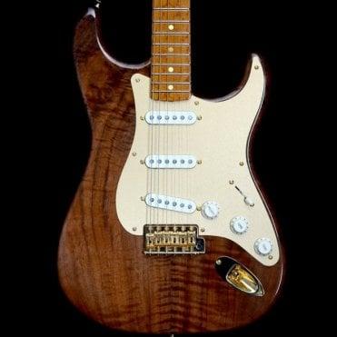 Claro Walnut Artistan Stratocaster w/ Roasted Birdseye Maple Neck