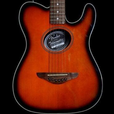 Fender Telecoustic Electro-Acoustic Guitar, Sunburst, Rosewood Neck
