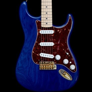 Deluxe Players Stratocaster Sapphire Blue Transparent, Pre Owned