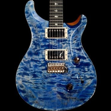 Custom 24 Quilt Top with 85/15 Pickups   Ebony Fingerboard, Faded Blue Jean