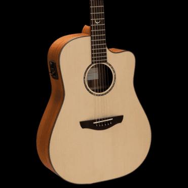 Saturn Natural Cutaway Trembesi Acoustic Guitar