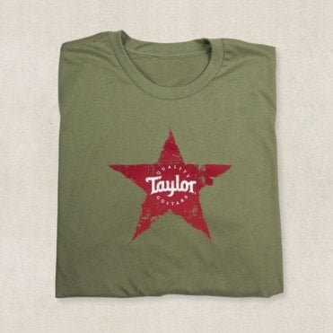 Star T-Shirt In Light Olive, Various Sizes