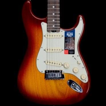 American Elite Stratocaster Electric Guitar, Sienna Sunburst