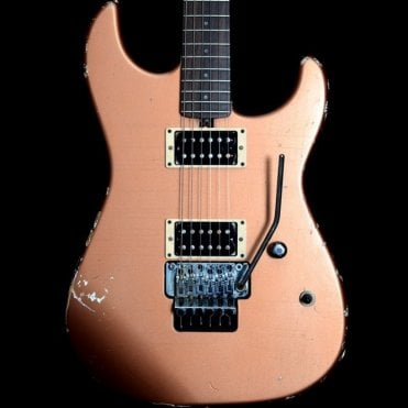 Cali HH Electric Guitar with Floyd Rose in Aged Copper Metallic, Pre-Owned