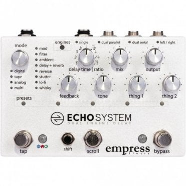 Echo System Dual Engine Delay Pedal