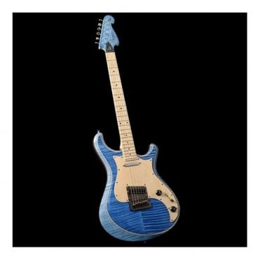 Knaggs Tier 2 Severn, Maple Neck & Pickguard, Flame Top Two Tone Blue