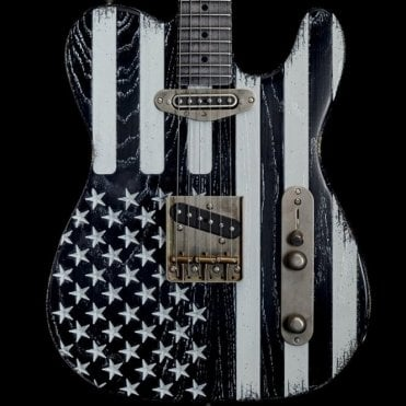 Palir Titan Black Flag Electric Guitar, Pre-Owned