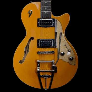 Starplayer TV Electric Guitar Orange w/Gold Sparkle Scratchplate