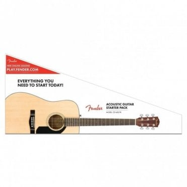 Fender CD-60S Dreadnought Pack, Natural (Aintree Store)
