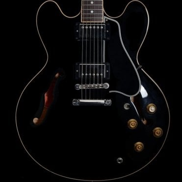 Memphis ES-335 Dot Reissue Semi-Hollow in Ebony (Thick Neck Profile), Pre-Owned