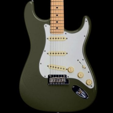 American Professional Stratocaster, Antique Olive, Pre Owned