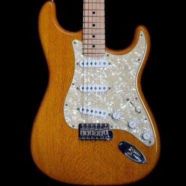 2003 Lacewood Stratocaster, Soft V Profile Flame Maple Neck, Honey Finish