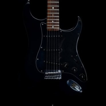 1977 Vintage Hardtail USA Stratocaster Electric Guitar in Black #S791227, Pre-Owned