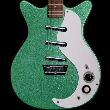 Danelectro DC-3 Electric Guitar, Turquoise Metal Flake, Pre Owned