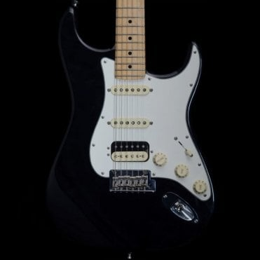 2015 American Standard HSS Stratocaster, Black, Pre-Owned