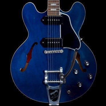 ES330L Hollowbody Electric Guitar with Bigsby, Beale Street Blue, Pre Owned
