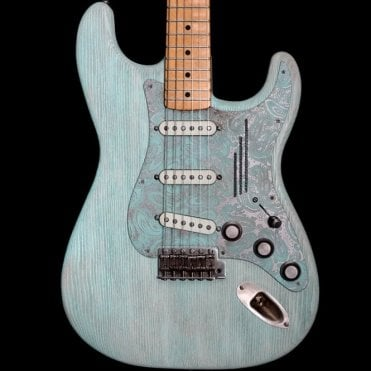 Steelguard-O-Matic Electric Guitar, Blue Paisley #18015