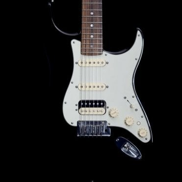 American Deluxe Stratocaster HSS, Black, Pre-Owned