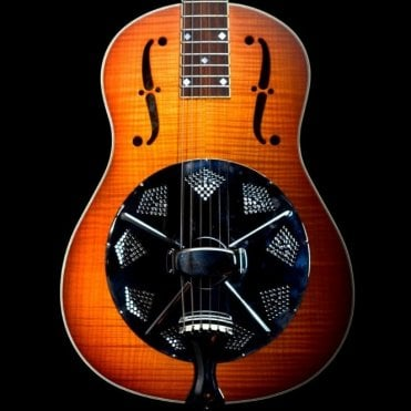 National Res-O-Phonic Estralita Deluxe Single Cone Resonator Guitar, Sunburst Pre-Owned