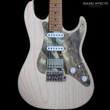 96 Swamp Ash with Patinated Pickguard and Roasted Maple Neck #19848, White Wash