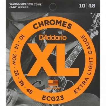 D'Addario ECG23 XL Chromes Extra Light (.010-.048) Electric Guitar Strings