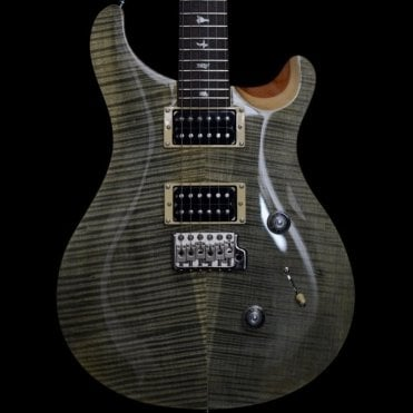2018 Custom 24 Electric Guitar, Trampas Green, Natural Back