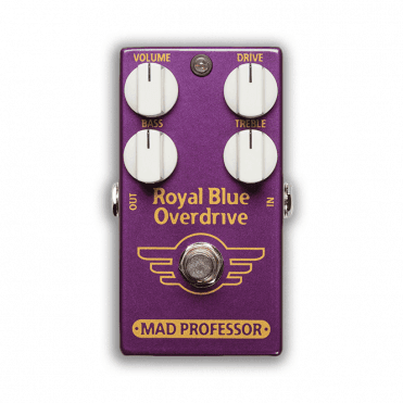 Royal Blue Overdrive Effects Pedal