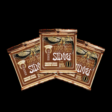 X3 PACKS of Coated Slinky Acoustic Guitar Strings (10, 11, 12 and 13 Gauge)