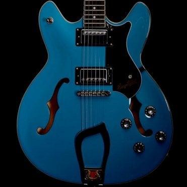 Viking Semi-Hollow Guitar (Miami Blue) w/ Hard Case