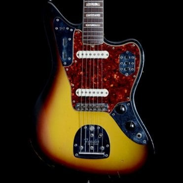 Original 1966 Jaguar in 2-Tone Sunburst w/ Tortoiseshell Pickguard, Pre-Owned