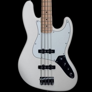 2015 Fender Mexican Standard Jazz Bass, Maple Neck Arctic White
