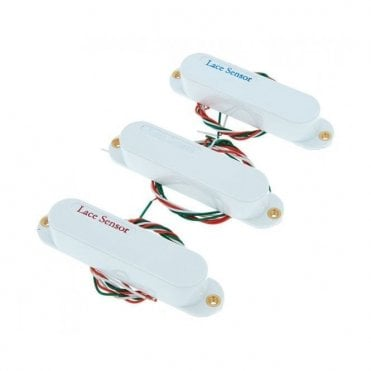Sensor Value Pack Red, Silver and Blue Single Coil Pickup Set (White)