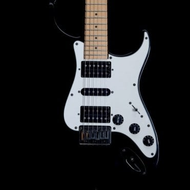 Greco Rare 1987 Y-60 Super Strat Electric Guitar in Black w/ Maple Fretboard, Pre-Owned