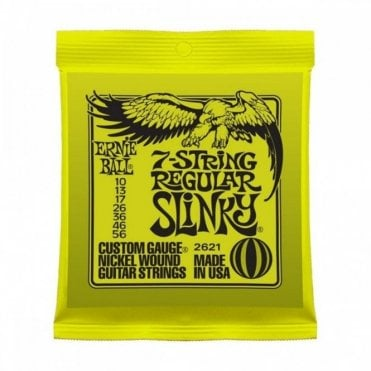 Regular Slinky Nickel 7 String 10-56 Electric Guitar Strings + FREE PICKS
