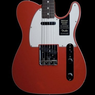 American Original 1960's Telecaster Electric Guitar, Fiesta Red