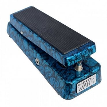 Wah Type II Pedal w/ Halo Inductor, Aqua Insanity Skulls Finish