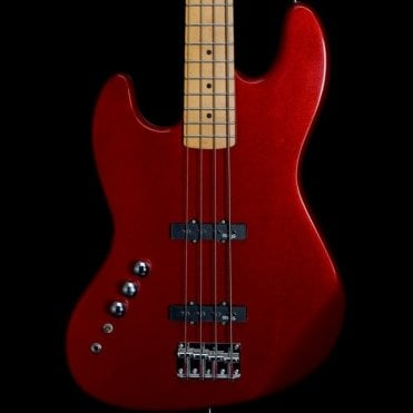 Left Handed Bass Guitar, Red