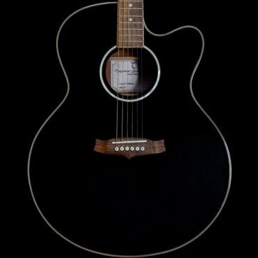 TSJC Super Jumbo Electro-Acoustic Guitar in Black, Pre-Owned
