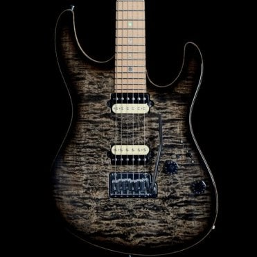 2012 Custom Modern with Roasted Maple Neck, Charcoal Burst Quilt