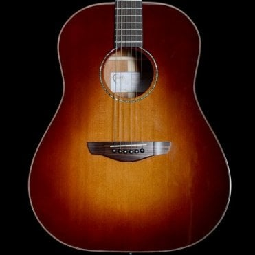 Mars Drop Top Dreadnought Acoustic Guitar in Sunburst, B-Stock