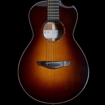 Mercury Scoop, Classic Burst Series Parlour Acoustic Guitar, Hi-Gloss 3-Tone Burst, Pre Owned