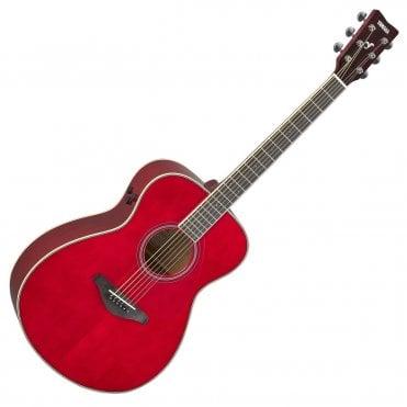 FS-TA TransAcoustic Guitar - Ruby Red (Artist Stock)